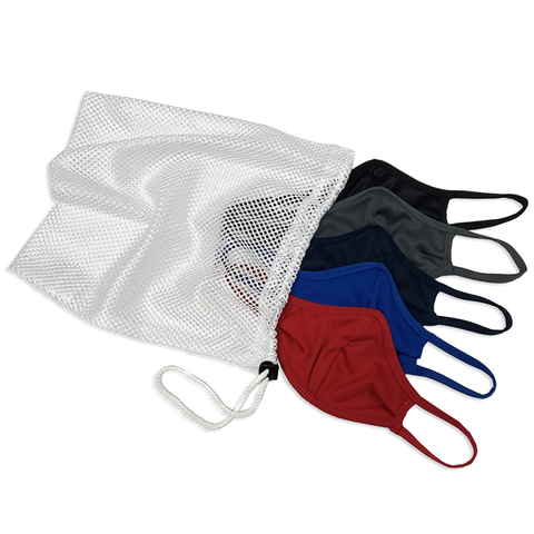 Badger 1930 B-Core 5 Pk Face Guard with Machine-Washable Mesh Laundry Bag - Dark Multi