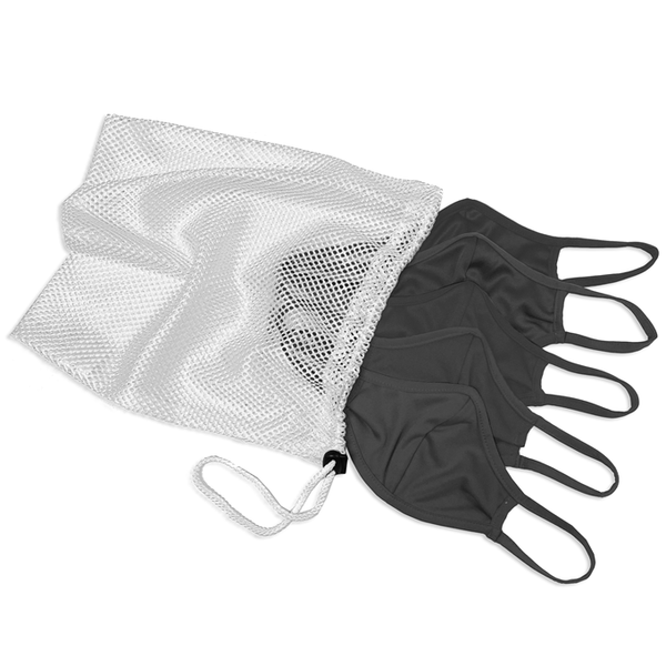 Badger 1930 B-Core 5 Pk Face Guard with Machine-Washable Mesh Laundry Bag - Graphite