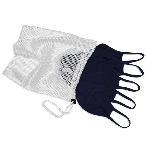 Badger 1930 B-Core 5 Pk Face Guard with Machine-Washable Mesh Laundry Bag - Navy