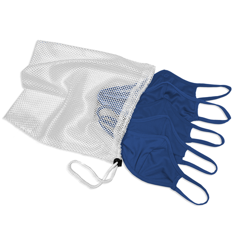 Badger 1930 B-Core 5 Pk Face Guard with Machine-Washable Mesh Laundry Bag - Royal