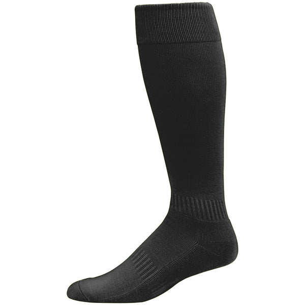 Augusta  6006 Elite Multi-Sport Knee High Sock - Black - Baseball Apparel, Softball Apparel, Lacrosse/Field Hockey, Volleyball Accessories, Football, Soccer - Hit A Double