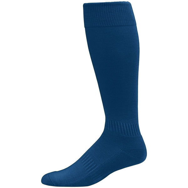 Augusta  6006 Elite Multi-Sport Knee High Sock - Navy - Baseball Apparel, Softball Apparel, Lacrosse/Field Hockey, Volleyball Accessories, Football, Soccer - Hit A Double