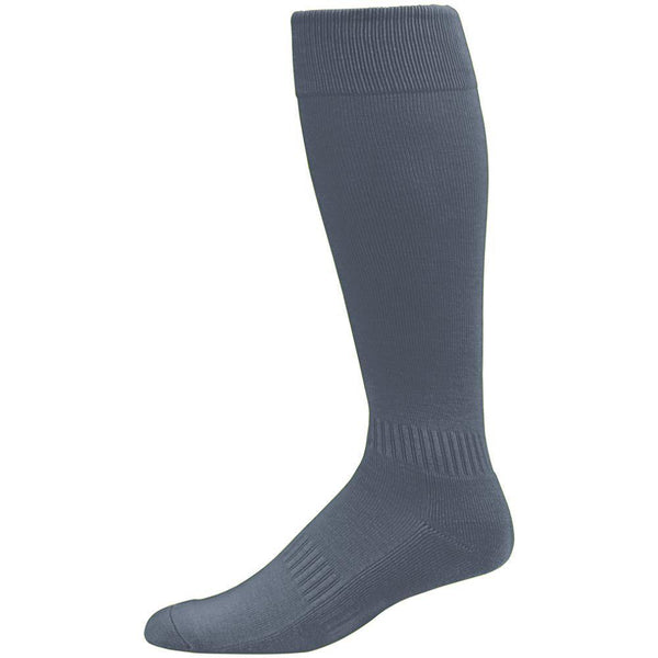 Augusta  6006 Elite Multi-Sport Knee High Sock - Graphite - Baseball Apparel, Softball Apparel, Lacrosse/Field Hockey, Volleyball Accessories, Football, Soccer - Hit A Double