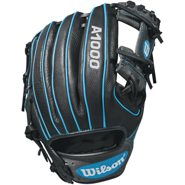 "Wilson A1000 11.25"" Infield Gloves WTA10RB181788 - Black Blue - Hit A Double - 1"