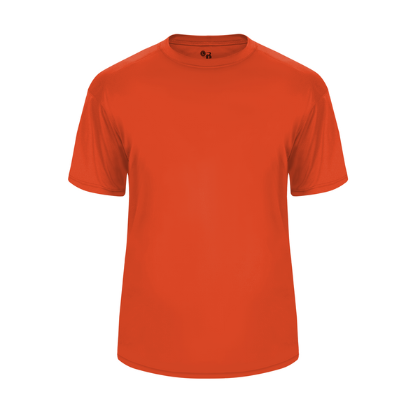 Badger 2020 Ultimate Softlock Youth Tee - Orange - Baseball Apparel, Softball Apparel, Football, Soccer, Tennis, Lacrosse/Field Hockey, Band, Bowling, Training/Running, Casual Wear - Hit A Double - 1