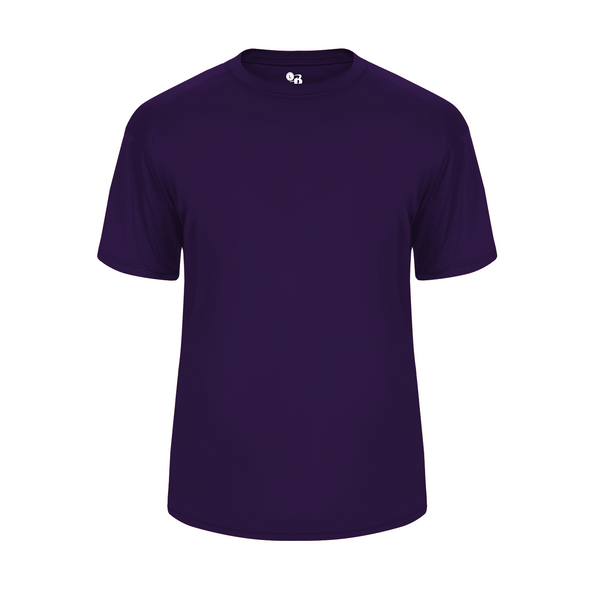 Badger 2020 Ultimate Softlock Youth Tee - Purple - Baseball Apparel, Softball Apparel, Football, Soccer, Tennis, Lacrosse/Field Hockey, Band, Bowling, Training/Running, Casual Wear - Hit A Double - 1