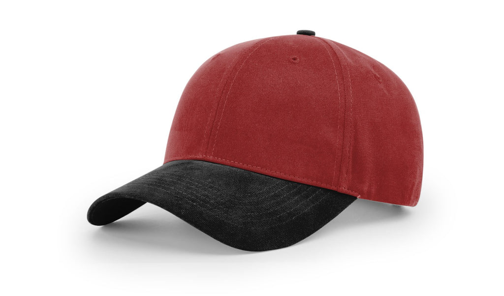 Richardson 203 Brushed Chino Cap - Cardinal Black