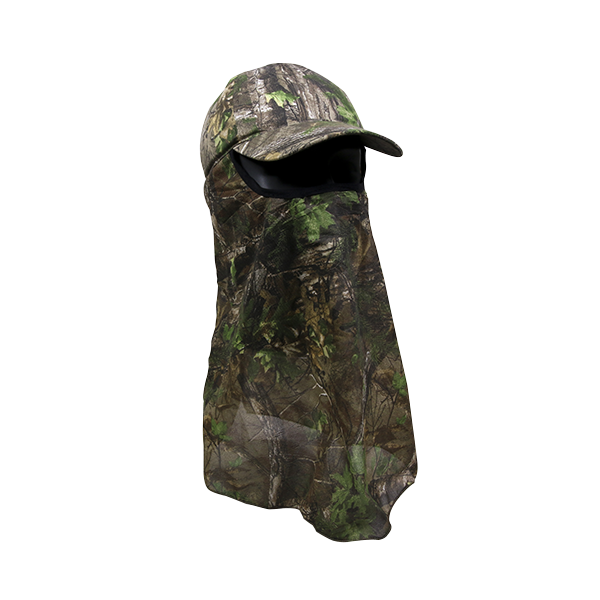 OC Sports 203DN Adjustable Cap with Attached Mesh Facemask - Realtree Xtra Green