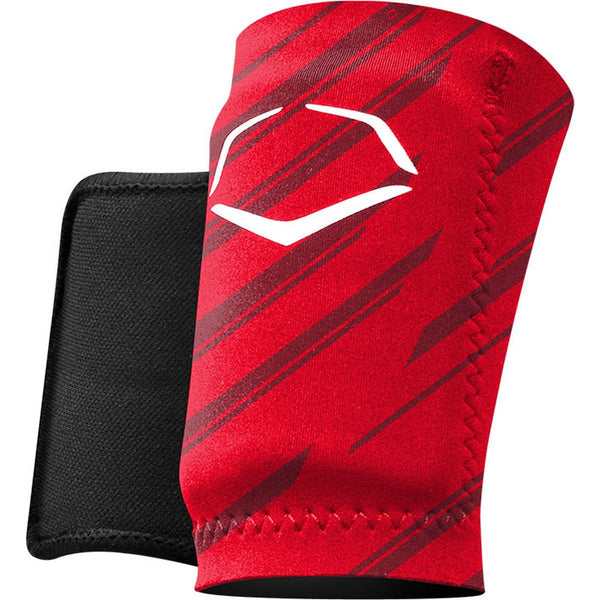 EvoShield Protective Wrist Guard - Stripe Red - Baseball Accessories - Hit A Double