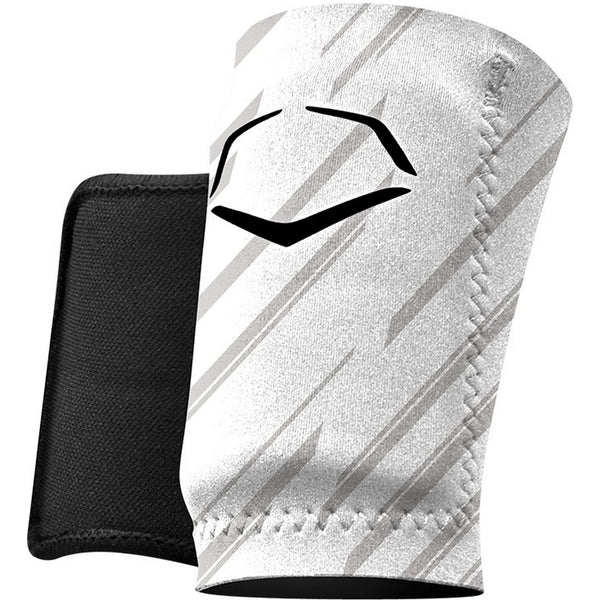 EvoShield Protective Wrist Guard - Stripe White - Baseball Accessories - Hit A Double