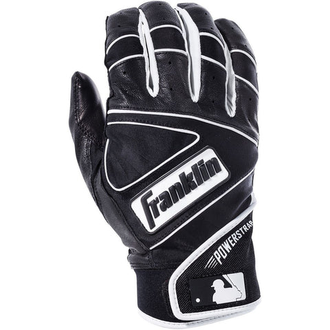 Franklin Powerstrap Adult Batting Gloves - Black