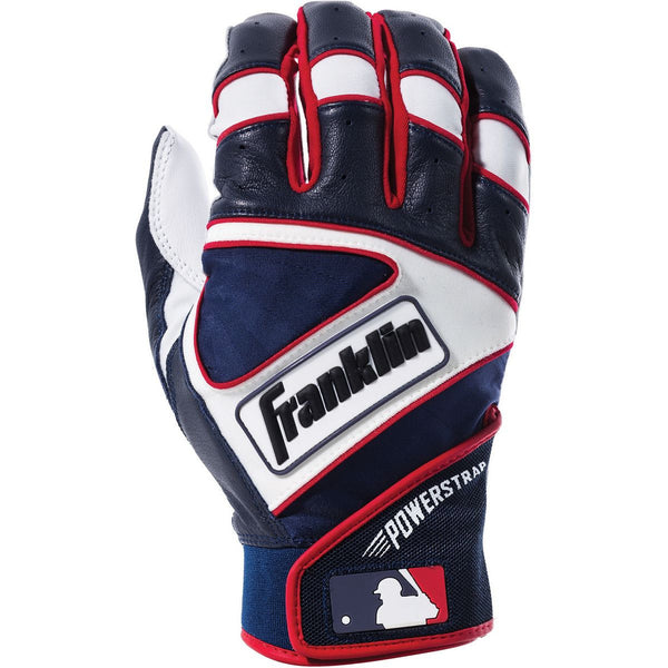 Franklin Powerstrap Youth Batting Gloves - Pearl Navy Red