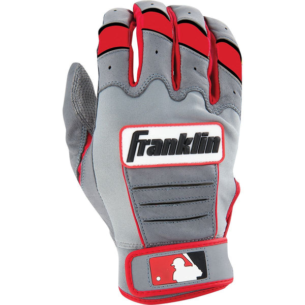 Franklin CFX Pro Adult Batting Gloves - Gray Red
