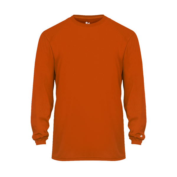 Badger 2104 Youth B-Core Long Sleeve Tee - Orange - Outerwear - Hit A Double