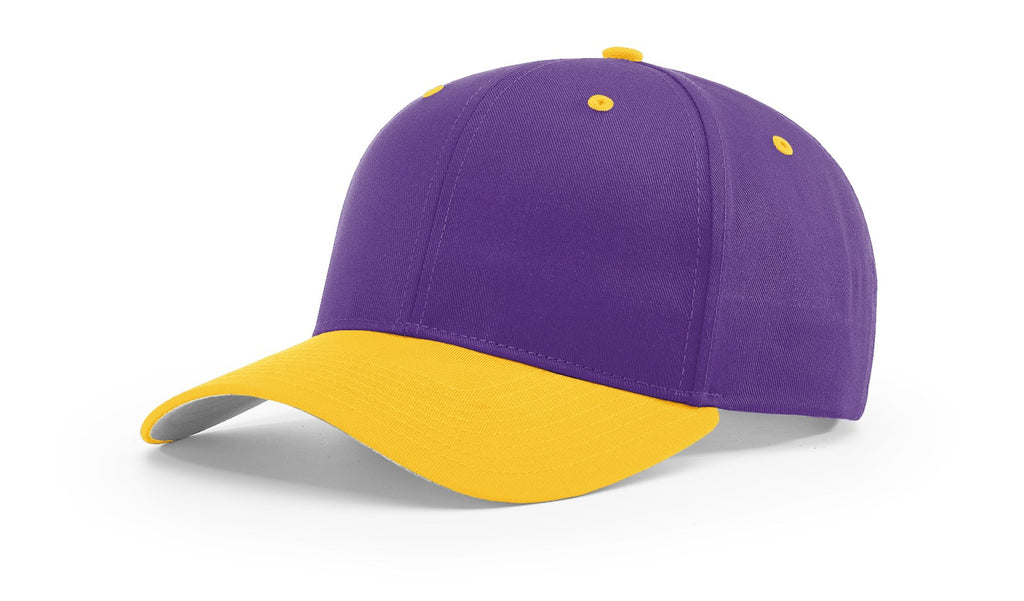 Richardson 212 Pro Twill Snapback Cap - Purple Gold