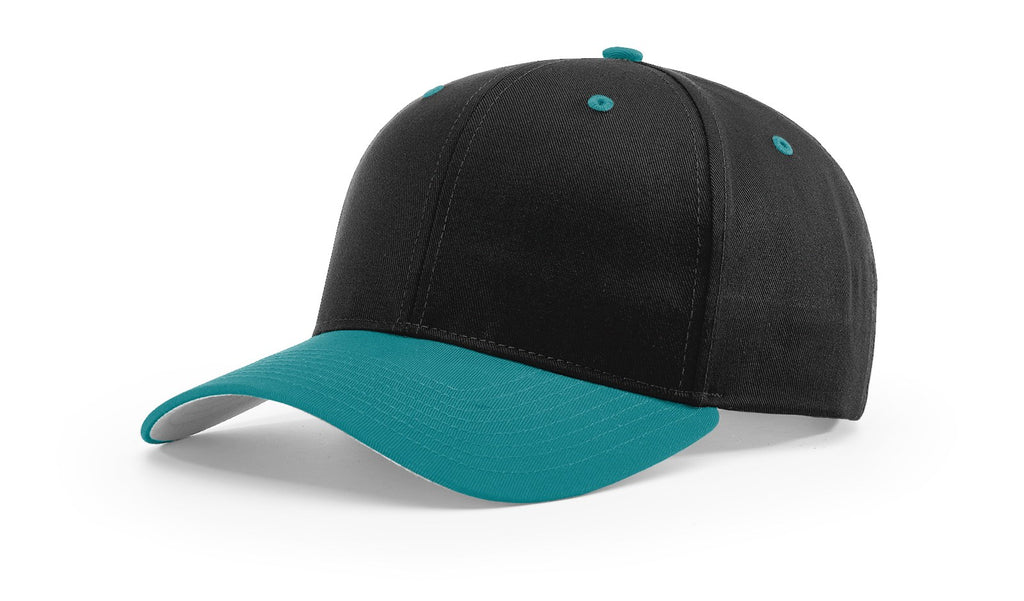 Richardson 212 Pro Twill Snapback Cap - Black Blue Teal