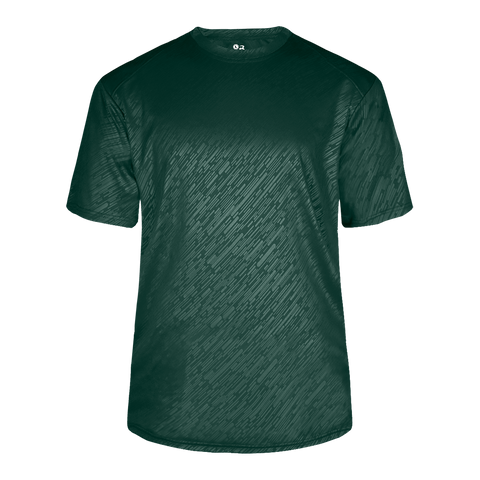 Badger 2131 Youth Line Embossed Tee - Forest Line Embossed