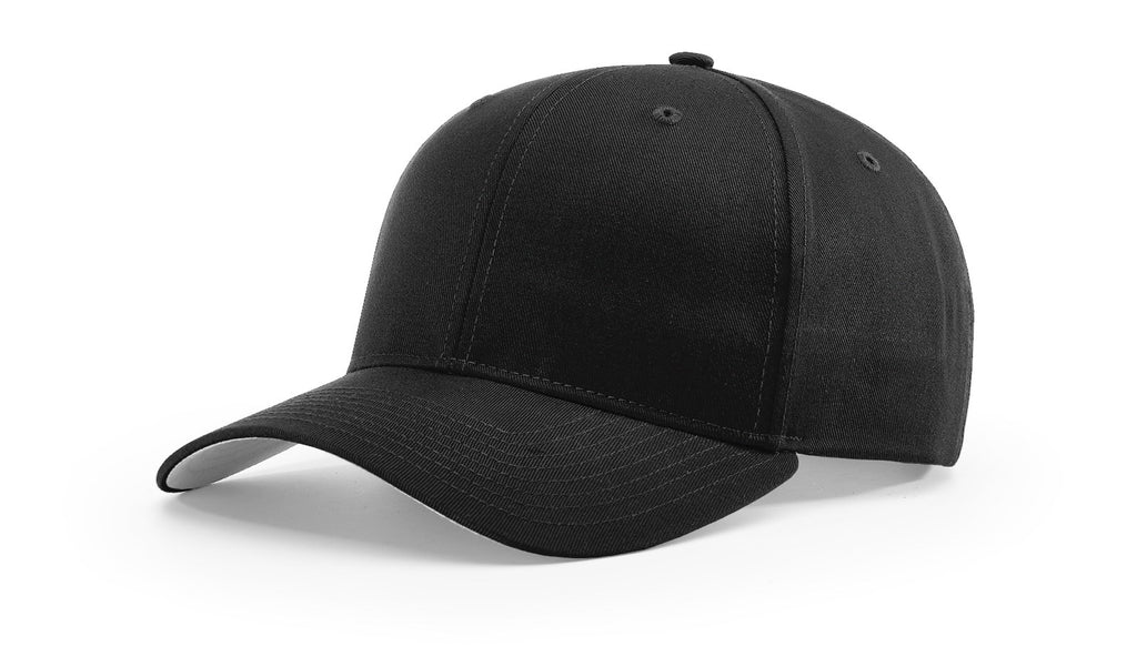 Richardson 214 Pro Twill Hook-And-Loop Cap - Black
