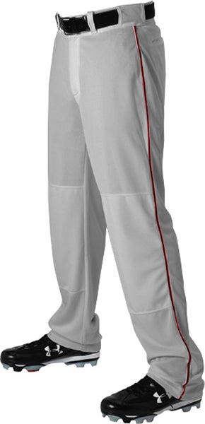 Alleson 605WLB Adult Baseball Pant with Braid - Gray Maroon