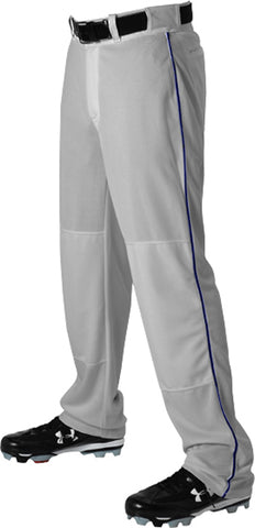 Alleson 605WLB Adult Baseball Pant with Braid - Gray Navy