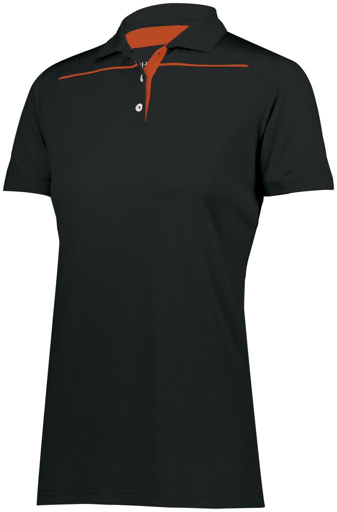 Holloway 222761 Ladies Defer Polo  - Black Orange - HIT A Double