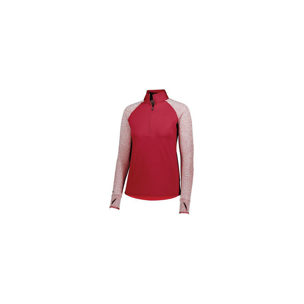 Holloway 222905 Girls Axis 1/2 Zip Pullover - Scarlet Scarlet Heather