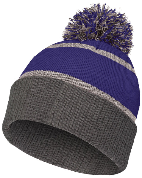Holloway 223816 Reflective Beanie with Cuff - Purple Carbon - HIT A Double
