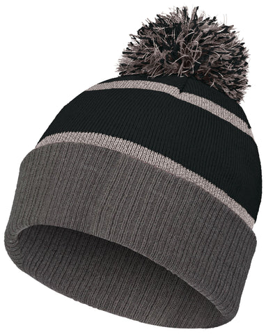 Holloway 223816 Reflective Beanie with Cuff - Black Carbon - HIT A Double