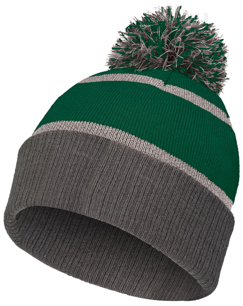 Holloway 223816 Reflective Beanie with Cuff - Forest Carbon - HIT A Double