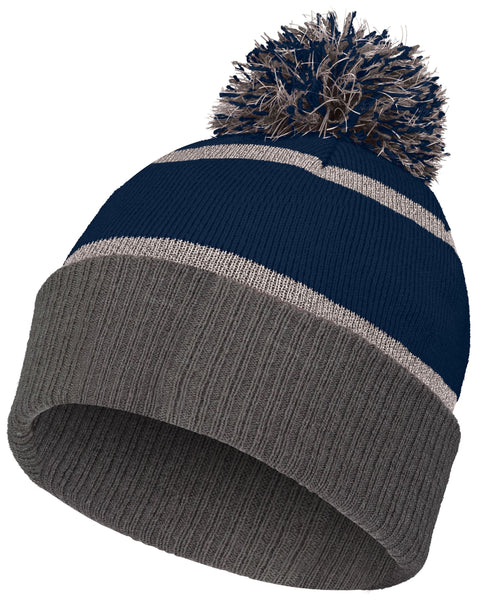 Holloway 223816 Reflective Beanie with Cuff - Navy Carbon - HIT A Double