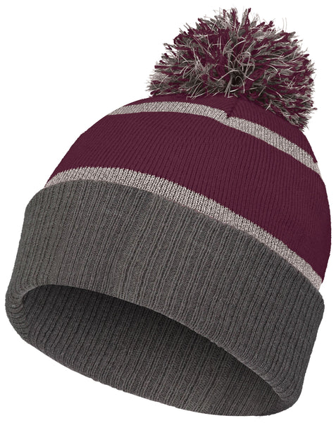 Holloway 223816 Reflective Beanie with Cuff - Maroon Carbon - HIT A Double