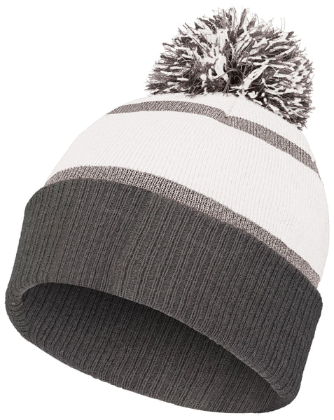 Holloway 223816 Reflective Beanie with Cuff - White Carbon - HIT A Double