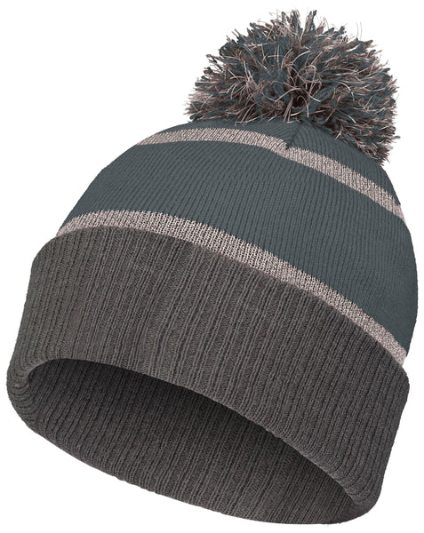 Holloway 223816 Reflective Beanie with Cuff - Graphite Carbon - HIT A Double