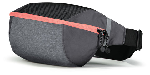Holloway 229011 Expedition Waist Pack - Carbon Heather Coral
