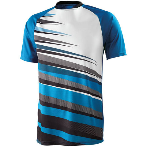 High Five 322911 Youth Galactic Jersey - Power Blue Black White