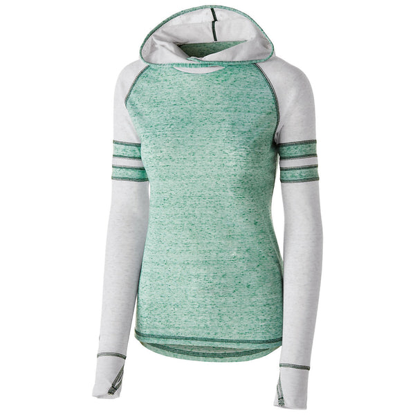 Holloway 229949 Girls Advocate Hoodie - Forest Silver