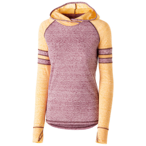 Holloway 229949 Girls Advocate Hoodie - Maroon Light Gold