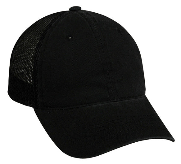 274ede19087 OC Sports FWT-130 Garment Wash Mesh Back Baseball Cap - Black – HIT ...