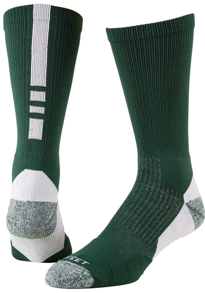 Pro Feet 238 Pro Feet Performance Shooter 2.0 - Forest White - Basketball, Lacross/Field Hockey, Casual Wear - Hit A Double