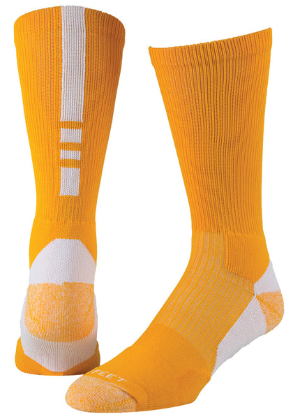 Pro Feet 238 Pro Feet Performance Shooter 2.0 - Gold White - Basketball, Lacross/Field Hockey, Casual Wear - Hit A Double