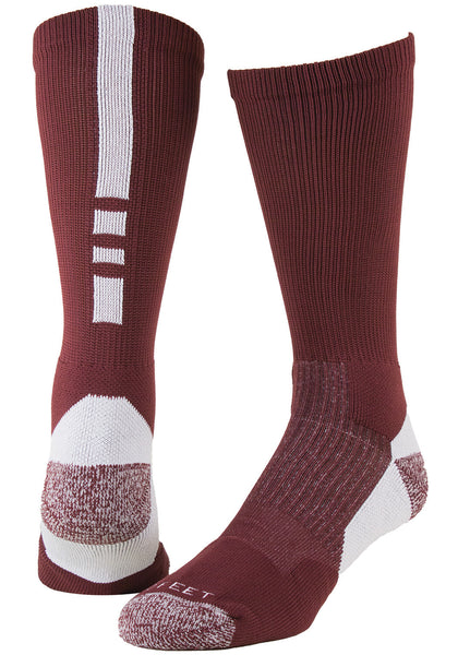 Pro Feet 238 Pro Feet Performance Shooter 2.0 - Maroon White - Basketball, Lacross/Field Hockey, Casual Wear - Hit A Double