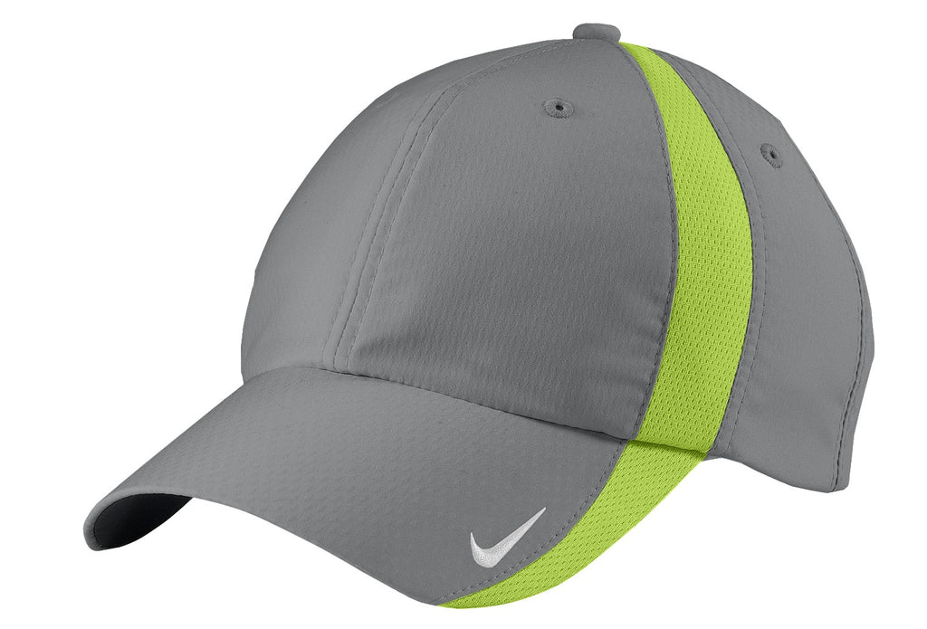 Nike 247077 Sphere Dry Cap - Cool Gray Chartreuse - HIT A Double
