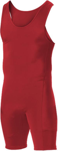 Alleson 250W1Y Youth Wrestling Singlet - Scarlet