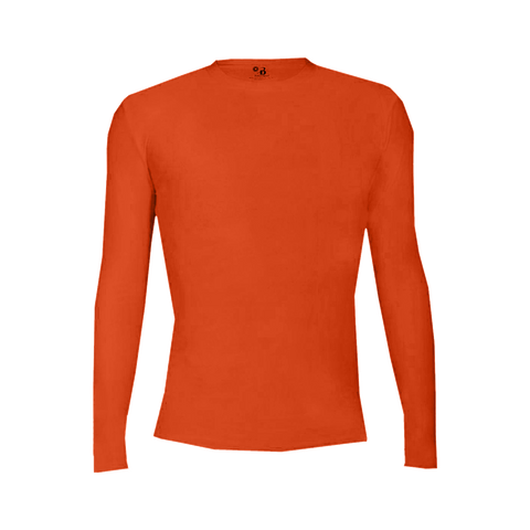 Badger 4605 Pro-Compression Long Sleeve Crew - Orange - Compression - Hit A Double