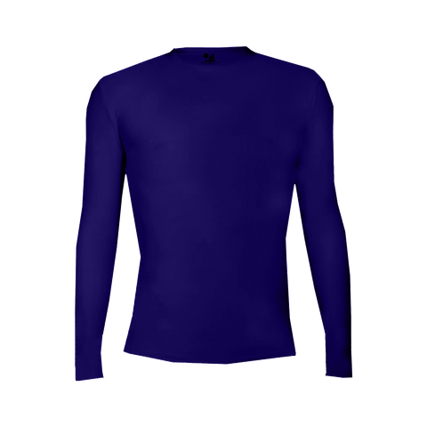 Badger 4605 Pro-Compression Long Sleeve Crew - Purple - Compression - Hit A Double