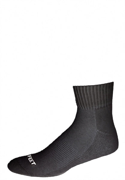Pro Feet 264/3-263/3 Cotton Quarter (3 Pack) - Black - Golf, Casual Wear, Training/Running - Hit A Double