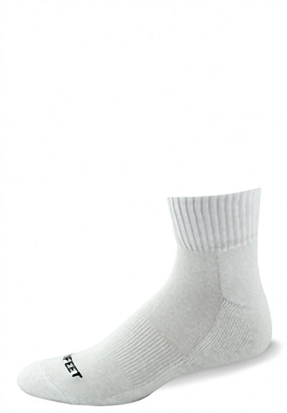 Pro Feet 264/3-263/3 Cotton Quarter (3 Pack) - White - Golf, Casual Wear, Training/Running - Hit A Double