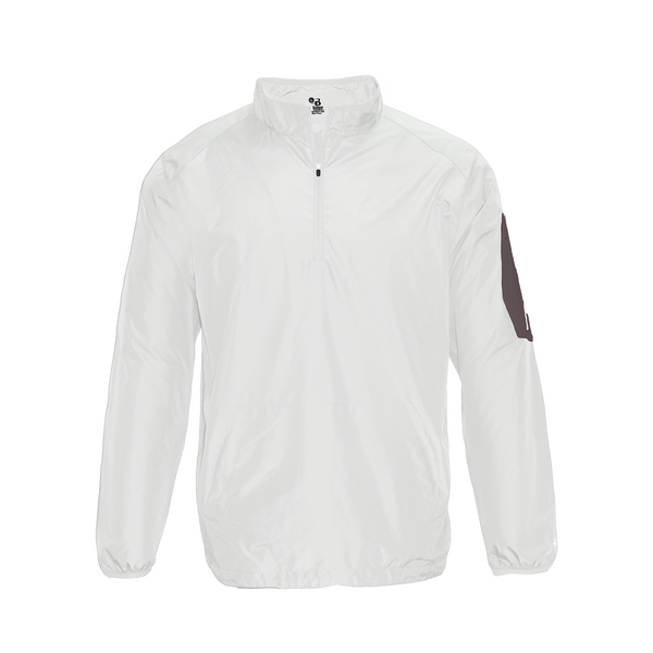 Badger 2641 Sideline Long Sleeve Youth Pullover - White Graphite