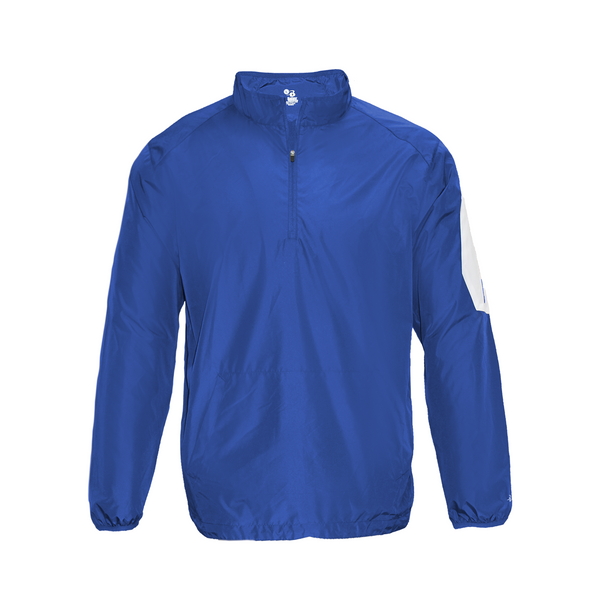 Badger 2641 Sideline Long Sleeve Youth Pullover - Royal White