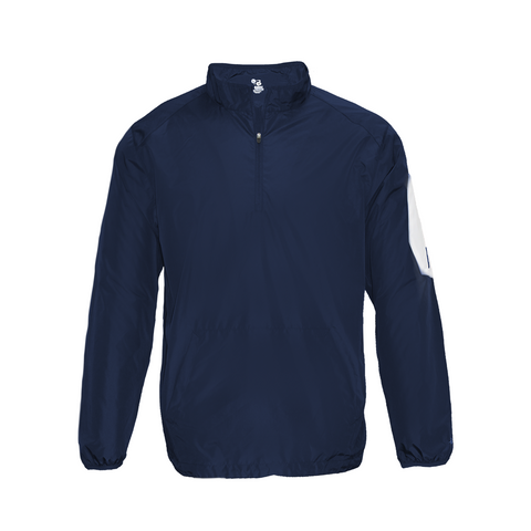 Badger 2641 Sideline Long Sleeve Youth Pullover - Navy White